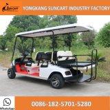 6 de Kar van het Golf Seater voor de Cursus van het Golf, de Elektrische Kar van Golf 4+2 Passanger voor het Gebied van de Toerist