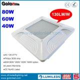 130lm/W 요인 가격 80W 40W 60W 주유소 휘발유 역을%s 산업 LED 닫집 램프