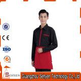 Qualité faite dans l'uniforme en gros de polyester de la Chine/de serveur restaurant de coton