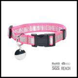 Collare tessuto riflettente su ordinazione di addestramento del cane di animale domestico per incandescenza di sicurezza nello scuro