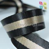 De gestreepte Valse Nylon Singelband van de Polyester voor de Schouderriem van de Toebehoren van de Zak