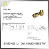 Вставка резьбы Knurling M4 RoHS уступчивая латунная подвергая механической обработке