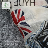 2017のViscoseのショールのイギリスのScarf Factoryフラグによって印刷される方法女性