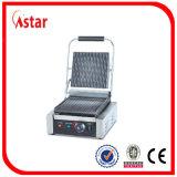 Livre de gás permanente numa chapa de aço inoxidável com armário, equipamento de cozinha comercial com três de Controle de temperatura