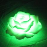 크리스마스를 위한 귀여운 뜨 인공적인 건전지에 의하여 운영하는 플라스틱 LED 작약 꽃