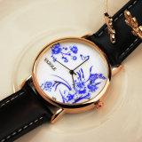 349 señora popular reloj de la manera del estilo de la porcelana del modelo azul y blanco de Yazole