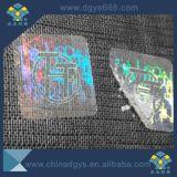 Collant transparent personnalisé de vinyle d'hologramme de modèle
