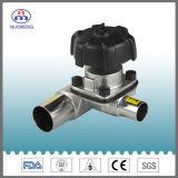 Válvula de membrana de acero inoxidable sanitario con CE Certificación ISO de 3A