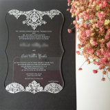 Convite de casamento em acrílico Crystal Clear