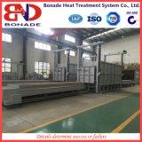 Horno de resistencia de doble horno Bogie para tratamiento térmico