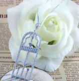 Form-Schmucksache-Großverkauf-weißes Goldüberzogener silberner Ohrring für Frauen