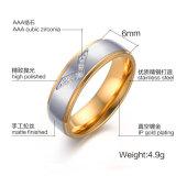 El Último Anillo de Dedo del Oro Diseña el Anillo de Diamante Sintetizado del Acero Inoxidable 316L para la Señora