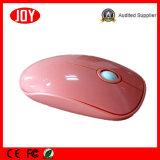 O computador cor-de-rosa da cor parte o rato ótico