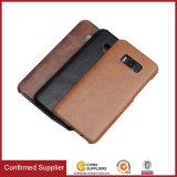 Affaires commerciales mobiles en cuir initiales de cas de couverture pour la galaxie de Samsung S8 S8 plus