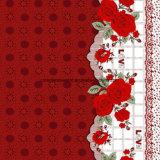 100%Polyester 꽃 로즈 Pigment&Disperse는 침구 세트를 위한 직물을 인쇄했다