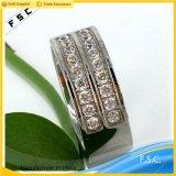 주문을 받아서 만들어진 중국 도매 형식 최신 판매 결혼식 약혼 반지