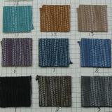 Couro de PVC de PU de salgueiro em relevo de alta qualidade para saco (D940)