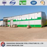 La fabbrica prefabbricata di industria diplomata iso della struttura d'acciaio immagazzina
