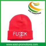 Chapeau tricoté acrylique de chapeau de Beanie de logo de broderie pour l'homme