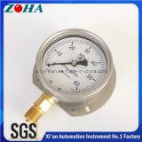 L'huile de la moitié Fill-Able Ss manomètre haute pression avec la bride 60MPa