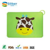 Impressão de animais personalizados Kids Silicone Placemat Baby Dining Mat