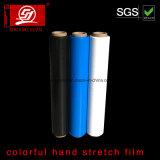 Résistance à la pénétration du PEBDL 5000m main colorés Film étirable ENROULER LE FILM