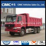 Autocarro con cassone ribaltabile di colore rosso di Sinotruk HOWO 6X4 336HP per l'Etiopia
