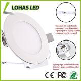 Luz de techo plana del LED, blanco caliente ligero plano ahuecado redondo ultrafino de Dimmable del dispositivo ligero del panel de 20W LED