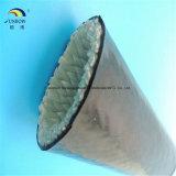 Fornecedor revestido da luva do incêndio da fibra de vidro do e do silicone de China