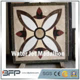 工場床および壁のための直接大理石のウォータージェットの正方形の円形浮彫りデザイン