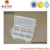 6 Compartimiento ajustable de la caja plástica