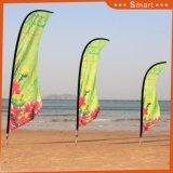 Показанный флаг летая пляжа ножа крыла пера