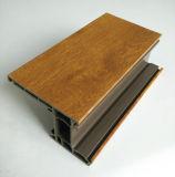 Conch 60 PVC / UPVC Janela de encadernação superior com revestimento de cor revestida