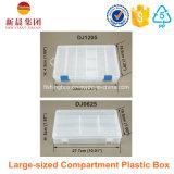 De grote Duidelijke Plastic Doos van het Compartiment
