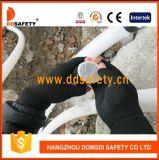 Ddsafety 2018 Guantes tejidos de poliéster de nylon con medio dedo