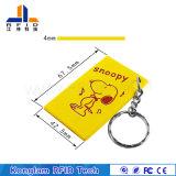 Подгонянная карточка PVC франтовская RFID шаржа