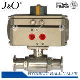 Válvula de esfera pneumática sanitária de 2 maneiras do aço inoxidável