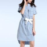 Mode Femmes linge Loisirs V-Neck Pocket T-shirt robe bandage