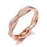 De duidelijke Juwelen van de Ring van de Gril van het lot van CZ Authentieke Stapelbare Verdraaide