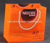La bolsa de plástico clara cosmética del bolso del bolso del regalo del PVC en de gran tamaño con la maneta