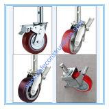 Sicheres haltbares verschließbares Fußrollen-Rad für Baugerüst