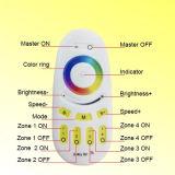 4 controlador cheio remoto do diodo emissor de luz do toque RGBW da zona 2.4G RF