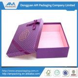 Изготовленный на заказ коробка подарка голубой бумаги складывая с оптовой продажей закрытия тесемки