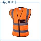 Veste reflexiva da segurança do trabalhador elevado da visibilidade