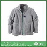 Confortável de Zip Fleece Jaqueta com bolso lateral