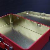 カスタムハンドルの昼食の錫のボックスか金属はゲームパターン印刷(C011-V1)とできる