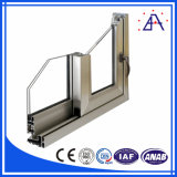 Construction de fenêtres et portes profil d'extrusion en aluminium