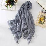 Écharpe de coton de Madame Wholesale Plain Deyed Linen//châle (HWBLC11)