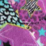 1側面のAntipillingの星の印刷の北極の羊毛