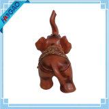 Estatueta tailandesa Elefante Figurine Collectible Handmade Animal Home resina Decor Trunk